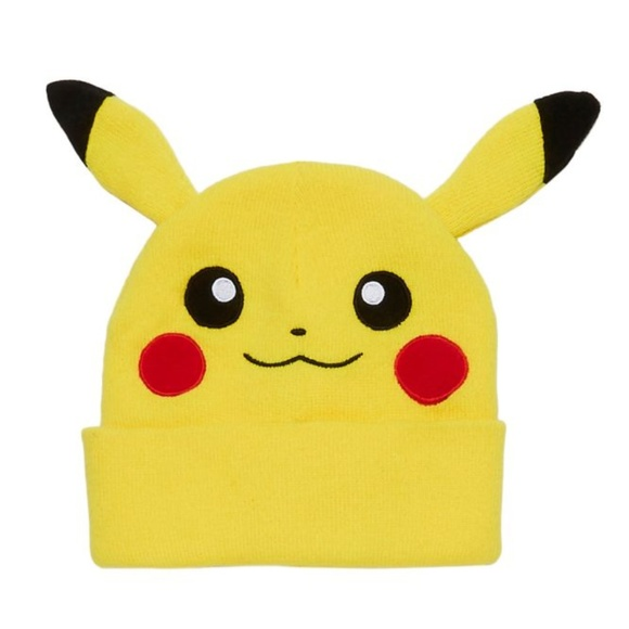 b4c5e4a6657 ✨NEW✨ Pikachu Pokemon Go Yellow Soft Beanie Hat